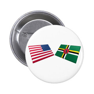 US & Dominica Flags Pin