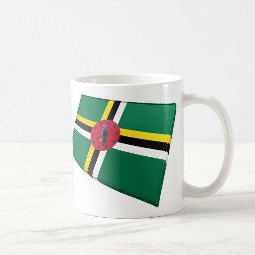 US & Dominica Flags Mug