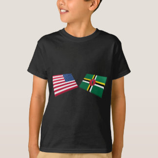 US & Dominica Flags T-Shirt