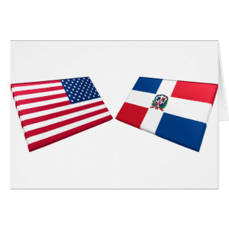 US & Dominican Republic Flags Card