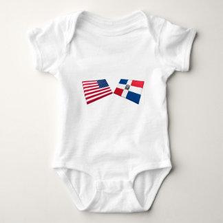 US & Dominican Republic Flags Shirt