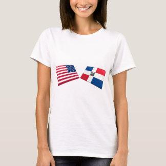 US & Dominican Republic Flags T-Shirt