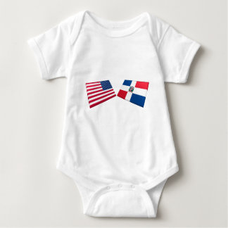 US & Dominican Republic Flags Shirt
