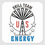 US Drill Team Square Stickers