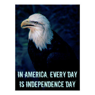 us eagle edit, In America, every day is Indepen... Poster
