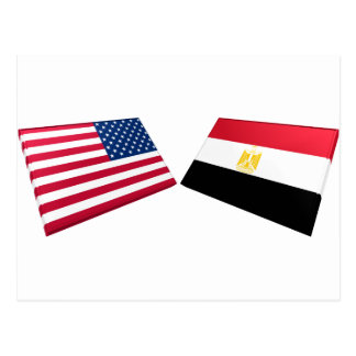 US & Egypt Flags Post Card