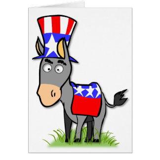 US Election Democrat Greeting Card