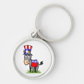 US Election Democrat Keychain