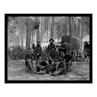 US Engineer Battalion 1864 Poster