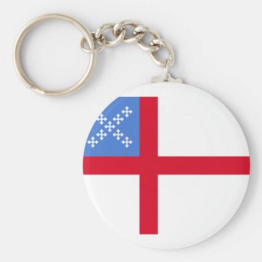 Us Episcopal Church, religious Basic Round Button Keychain