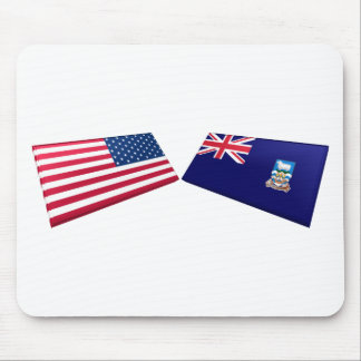 US & Falkland Islands Flags Mouse Pad