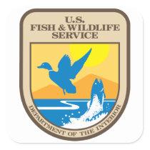 US Fish and Wildlife Service Square Sticker