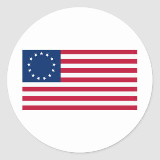 US flag 13 stars Betsy Ross Classic Round Sticker