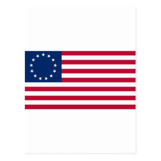 US flag 13 stars Betsy Ross Postcard
