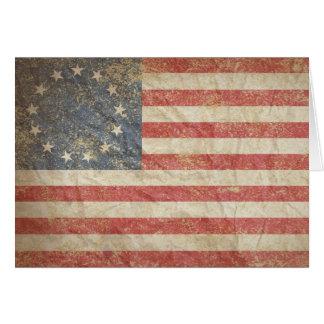 US Flag 1776 Card