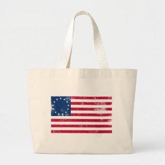 US Flag 1776 Large Tote Bag