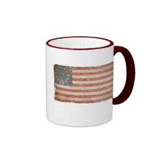 US Flag 1776 Ringer Coffee Mug