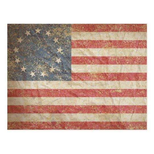US Flag 1776 Postcard