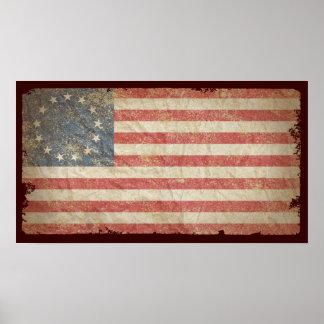 US Flag 1776 Poster