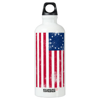 US Flag 1776 Water Bottle