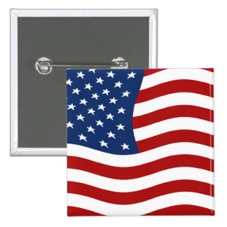 US Flag 2 Inch Square Button