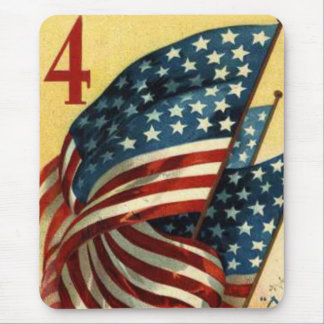 US Flag 4th of July Mouse Pad