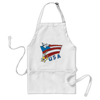 US Flag Adult Apron