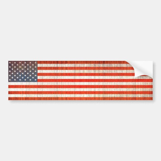 US Flag Aged Bumper Sticker