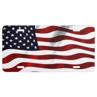 US Flag America License Plate