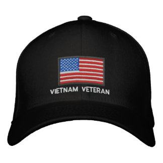 US Flag - America - Vietnam Veteran Embroidered Baseball Hat