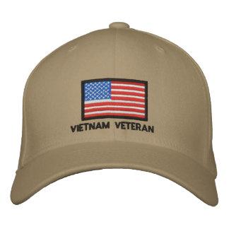US Flag - America - Vietnam Veteran Embroidered Hat