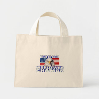 US Flag American Eagle World War Champs Tote Bags