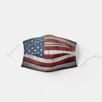US Flag American Flag Red White Blue Stripes Stars Cloth Face Mask