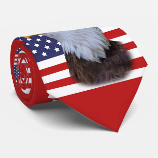 US Flag and American Eagle Neck Tie