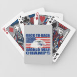 US Flag And American Eagle World War Champs Card Deck