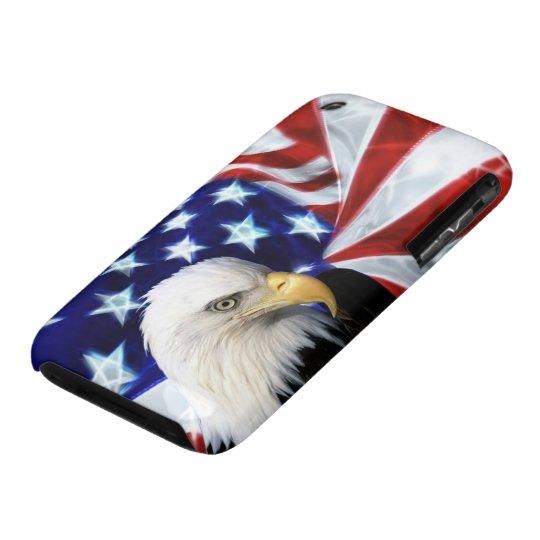 US Flag and Bald Eagle Patriot iPhone 3 Case-Mate Case