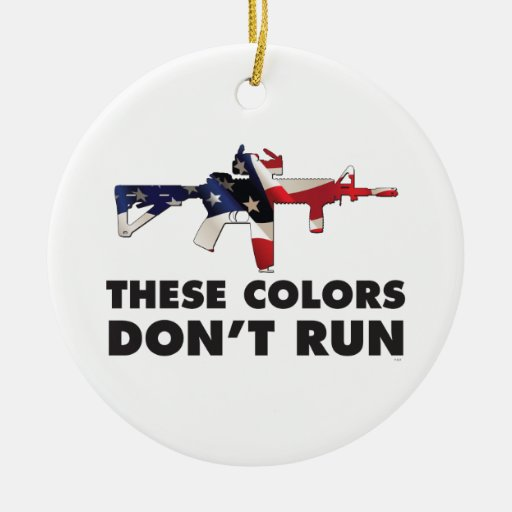 US Flag and Military - These Colors Don't Run Christmas Ornaments