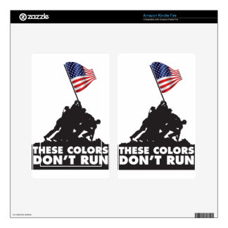US Flag and Military - These Colors Don't Run Skin For Kindle Fire