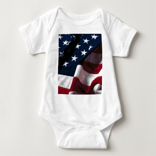 US flag Baby Bodysuit