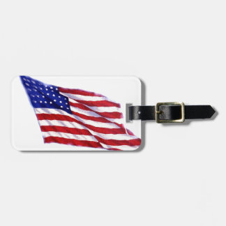 US Flag Bag Tag