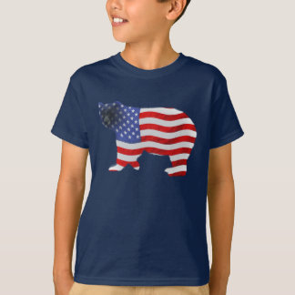US FLAG & BEAR USA-style Kids Shirt