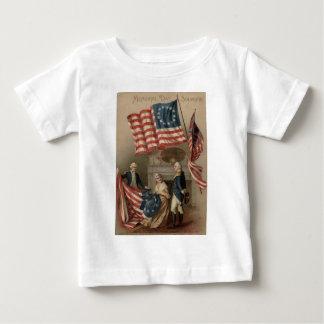 US Flag Betsy Ross George Washington Baby T-Shirt