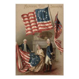 US Flag Betsy Ross George Washington Photo Print