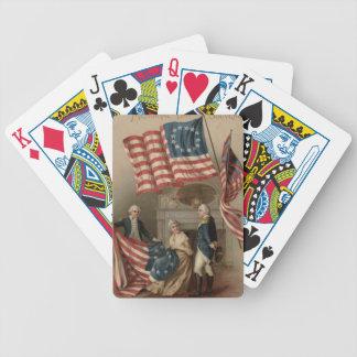 US Flag Betsy Ross George Washington Bicycle Poker Deck