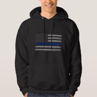 US Flag Blue Thin Line Hoodie