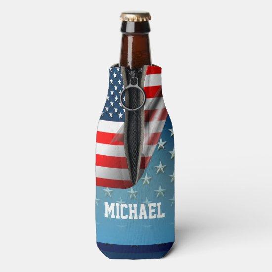 US Flag Bottle Cooler