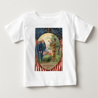 US Flag Bugle Taps Cemetery Wreath Baby T-Shirt