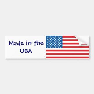 US Flag Car Bumper Sticker