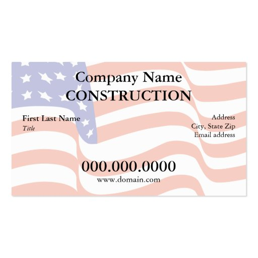 US Flag Business Card