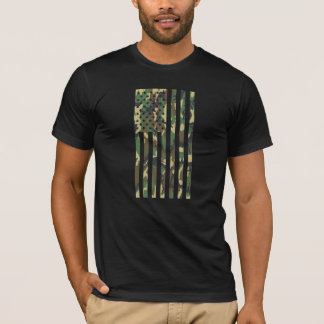 US Flag - Camo - Vertical T-Shirt
